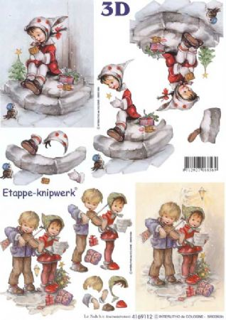 Hummel Children 2 3d Decoupage Craft Sheet